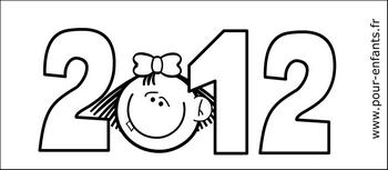 Coloriage de calendrier 2012 pdf à imprimer pour fille gratuit mensuel calendrier pdf imprimable pour filles gratuitement