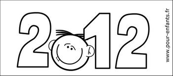 Calendrier coloriage 2012 à imprimer pdf gratuit mensuel calendriers pdf  imprimable gratuitement